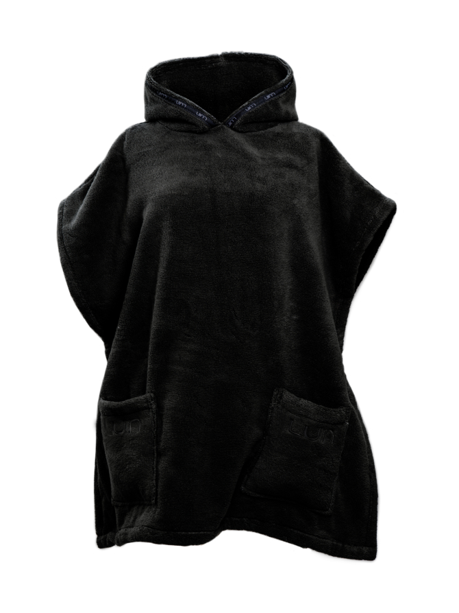 Your Home I Your Spa Casual Poncho Unisex Black