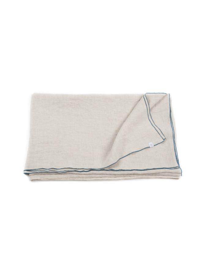 Blue Stitching-pellavainen pöytäliina 180 cm x 250 cm