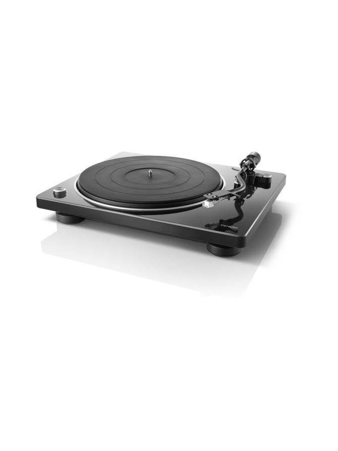 Denon DP-400 levysoitin, musta