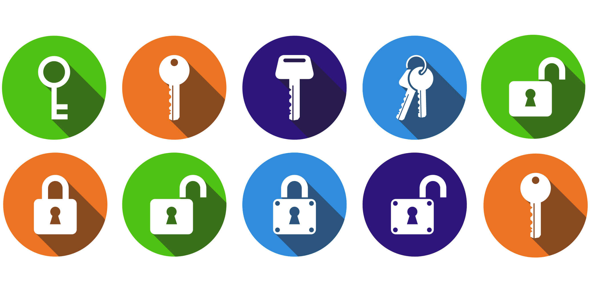 Icons of padlocks and keys that represent how secured personal loans unlock access to more money