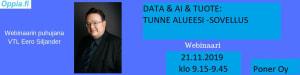 Datan & AI:n koulutus ja case: Tunne Alueesi-sovellus.