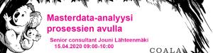 Masterdata-analyysi prosessien avulla