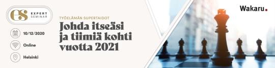 Työelämän supertaidot – johda itseäsi ja tiimiä kohti vuotta 2021
