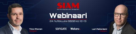 SIAM - Service Integration & Management - Pre-event webinaari