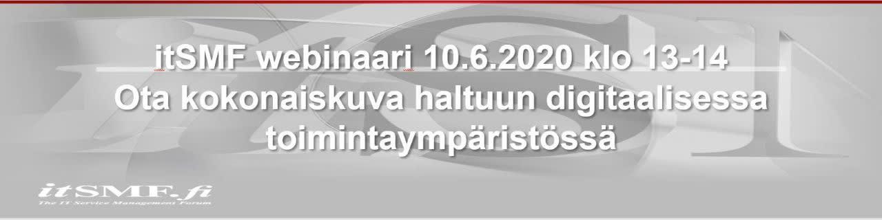itSMF webinaari kesäkuu 2020