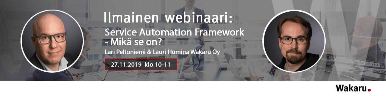 Service Automation Framework - Mikä se on?