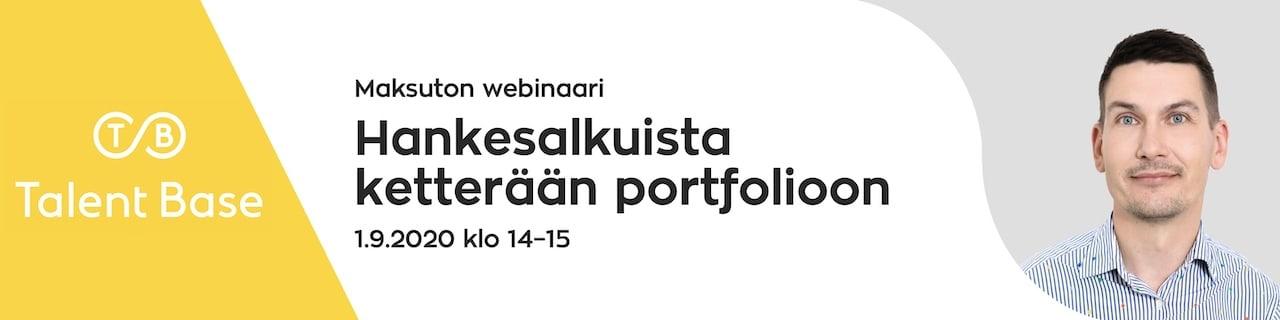WEBINAARI: Hankesalkuista ketterään portfolioon