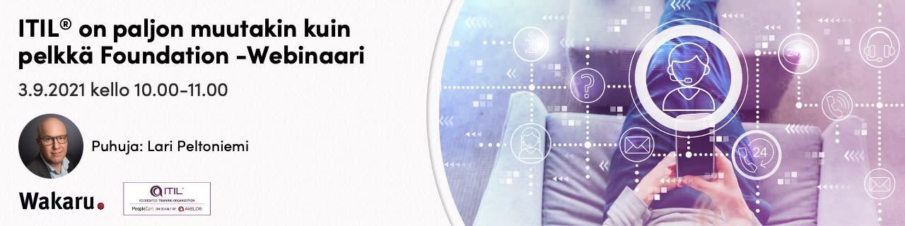 Webinaari - ITIL® on paljon muutakin kuin pelkkä Foundation