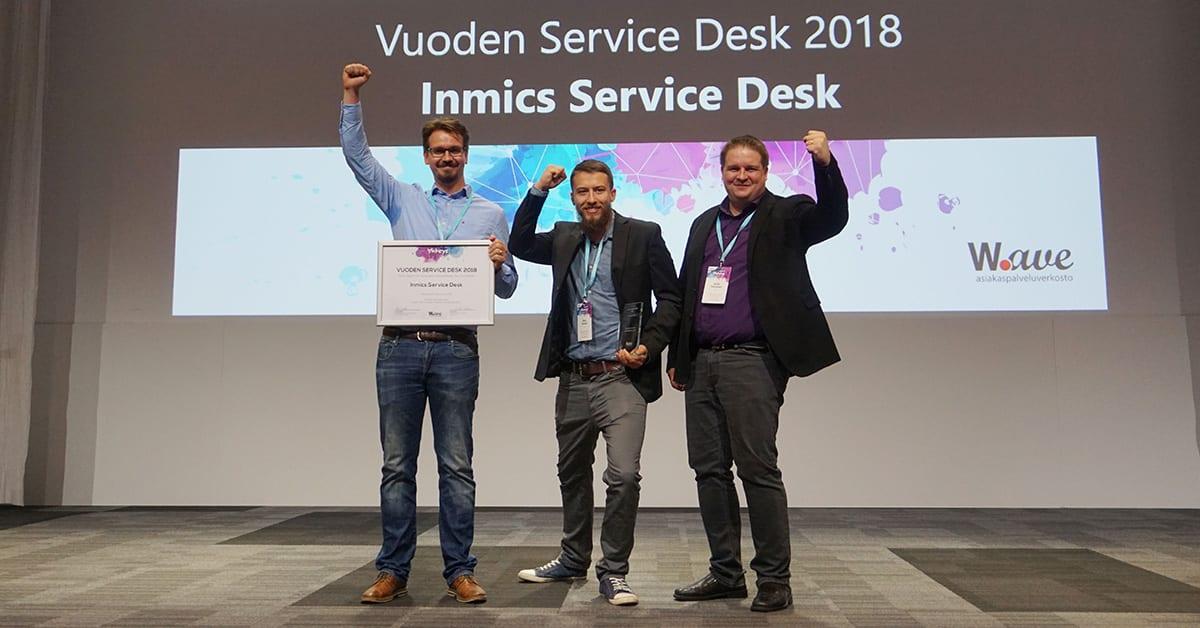 Vuoden Service Desk 2018 - Inmics