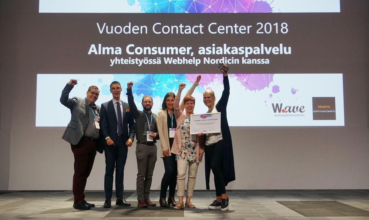Vuoden Contact Center 2018: Alma Consumer ja Webhelp Nordic