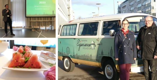 Freshworks Roadshow Tour bus