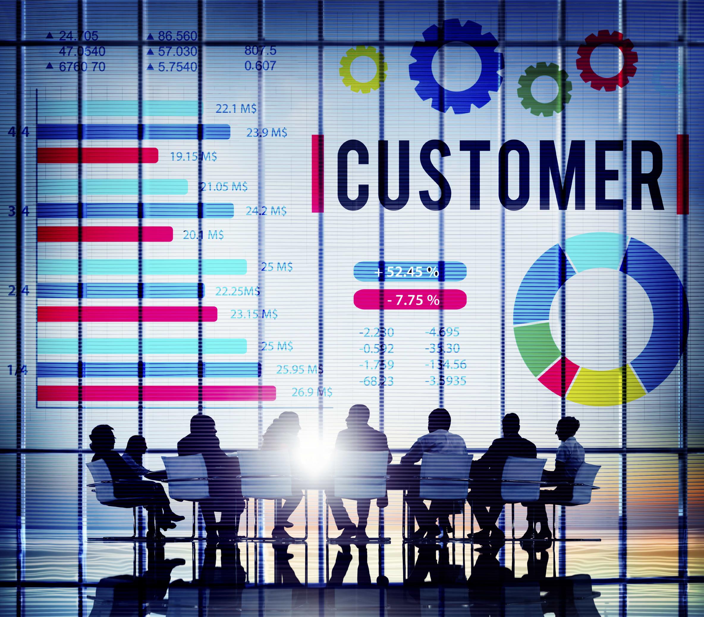 Customer Market Business Corporate Target Concept