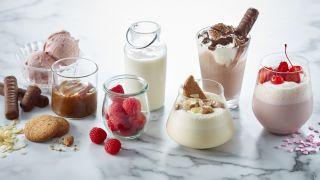 Mange ulike milkshakes