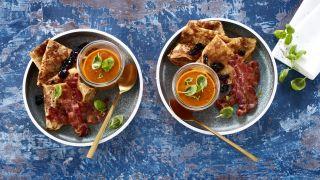 Middagspannekaker med tomatsuppe