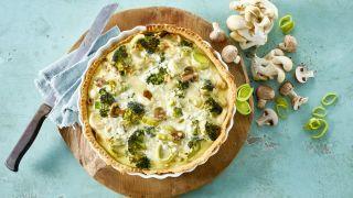 Mager pai med cottage cheese og grønnsaker