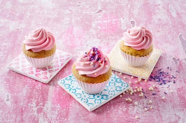 Rosa prinsessmuffins