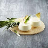 Tropisk milkshake med ananas