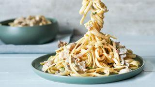 pasta med kylling og sjampinjongsaus