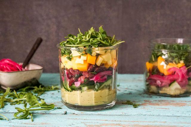 Salat på glass: Meksikansk salat