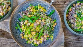 Curry linsesalat med grønn asparges