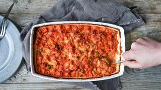 enkel fiskegryte i tomatsaus
