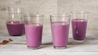 Proteindrikk med blåbær og mandler