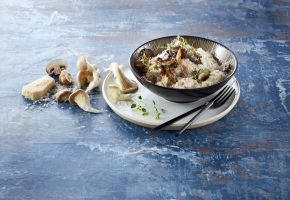 Byggrynsgrøt med sopp og parmesan