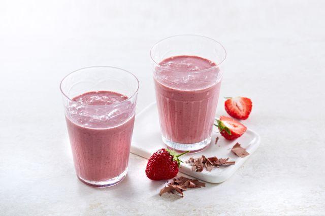 Sjokolade- og jordbærsmoothie
