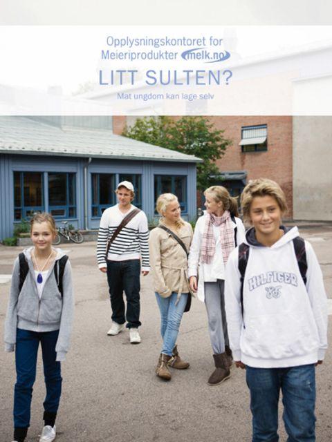 5 ungdommer utenfor skolen