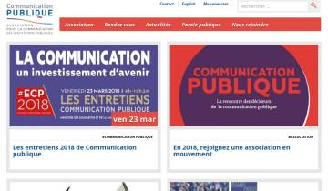 Capture du site Communication publique