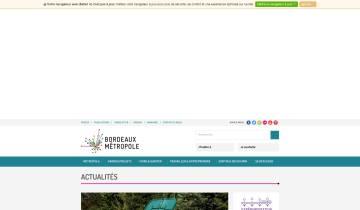 Capture du site Bordeaux Métropole