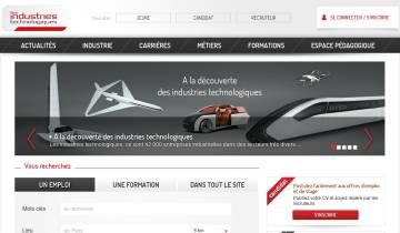 Capture du site UIMM - Les Industries Technologiques