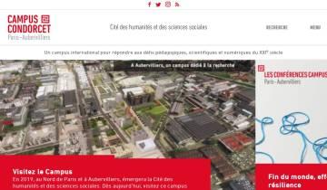 Capture du site campus-condorcet.fr
