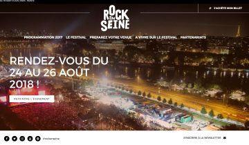 Capture du site Rock en Seine - Refonte 2015