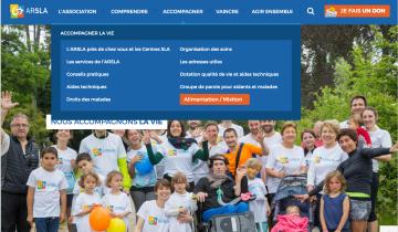 Capture du site ARSLA - Association pour la recherche sur la SLA