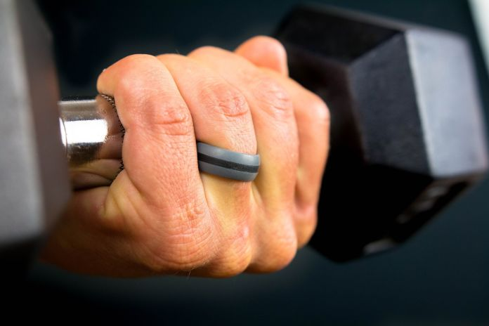 workout silicone wedding ring