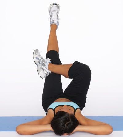 low abdominal cross exercise