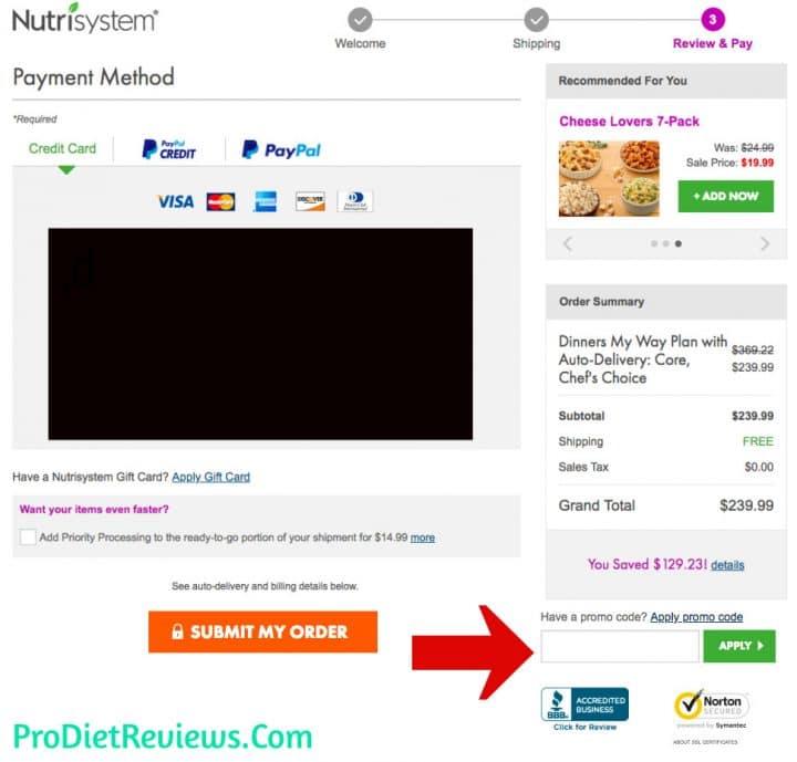 nutrisystem-discount-code-box