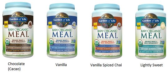 garden of life organic meal replacement shake flavors