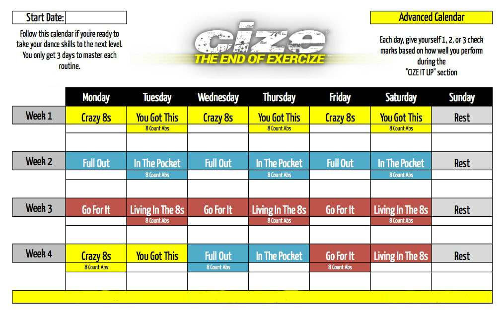 cize-advanced-workout-calendar-schedule