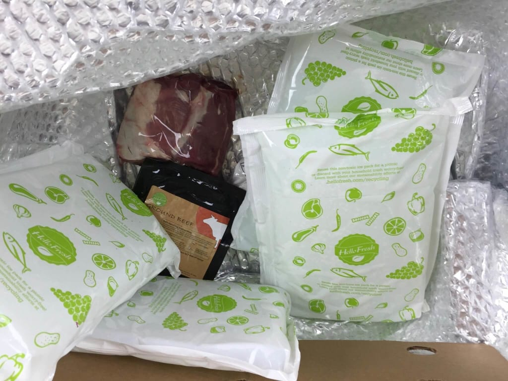 hellofresh coolers and ice box for meals