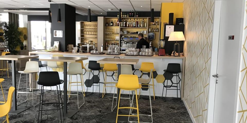 Projet d'architecture intérieure pour l'hôtel Ibis Styles de Poitiers Nord en 2018