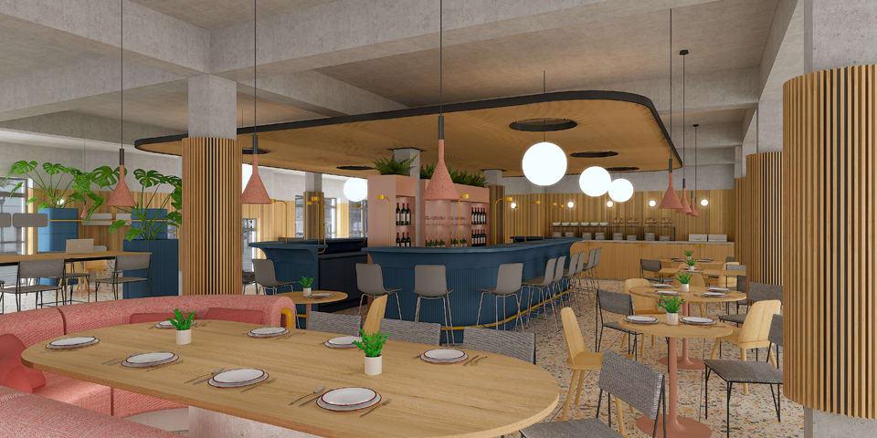 Aménagement intérieur du Novotel de Bordeaux Saint-Jean - Concept Métro
