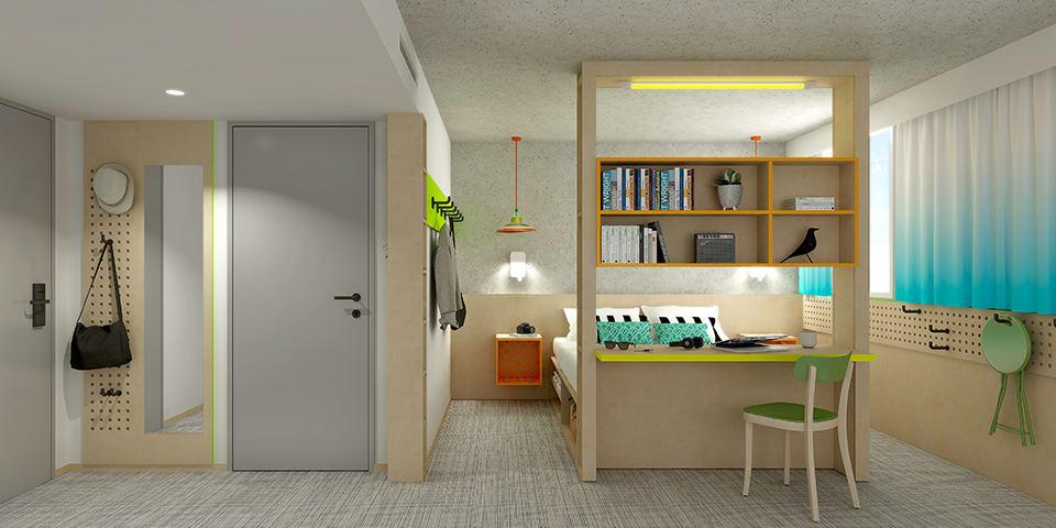 Aménagement-décoration-hôtel-Greet-Bordeaux-Mérignac