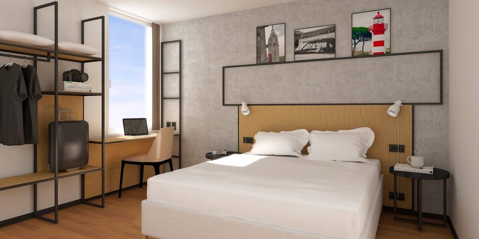 Rénovation et décoration sous le concept Plaza de l'hôtel Ibis de La Rochelle Centre