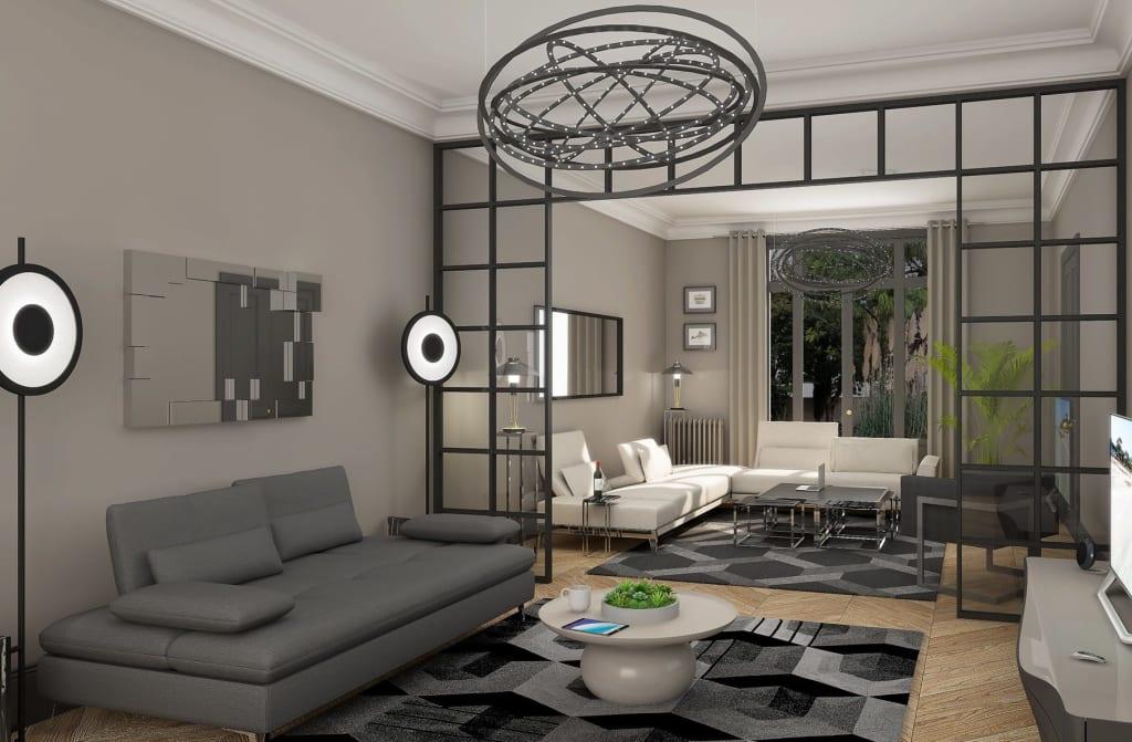 Agence d'architecte d'intérieur d'appartements parisiens et Haussmanniens