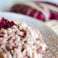 Risotto with speck and radicchio