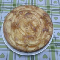 manzana y tarta de chocolate