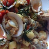 guiso de gnocchi de trufas de mar y el eneldo