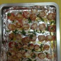 Tallarines con crema de aguacate y tomates cherry paso 2